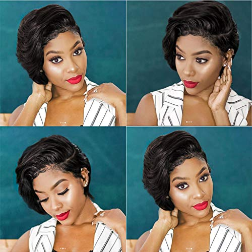 FORUU Wigs, 2019 Valentine's Day Surprise Best Gift For Girlfriend Lover Wife Party Under 5 Free delivery Fashion Synthetic Short Afro Curly Black Wig For Women]()