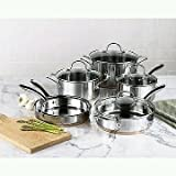 kenmore 10 pc - Kenmore 10 Pc. Stainless Steel with Copper Band Cookware Set