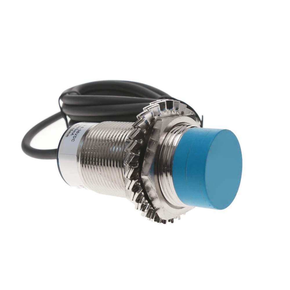 BeMatik - Approach proximity sensor inductive 6-36 VDC PNP NO M30 Sn:15mm BeMatik.com