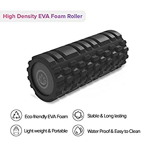 Levoit Foam Roller,Trigger Point Muscle Therapy,Premium High Density EVA Foam with Grid, For Physical Therapy & Exercise,Deep Tissue Muscle Massage,Ideal for CrossFit,Yoga & Pilates(13 inch) from LEVOIT