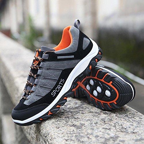 LHWY Herren Outdoor Sneakers Sport Wandern Casual Wasserdicht Anti-Rutsch-Schuhe Grau