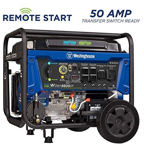 Westinghouse WGen9500DF Dual Fuel Generator-9500 Rated 12500