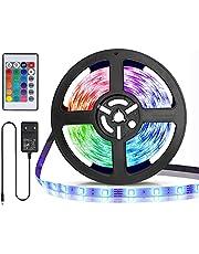 Aigostar LED Strip, RGB LED Strip met Afstandsbediening, IP65 Waterdichte, LED Strip Light voor Thuis, TV, Slaapkamer, Keuken, Party, Veranda, Feest, Bar