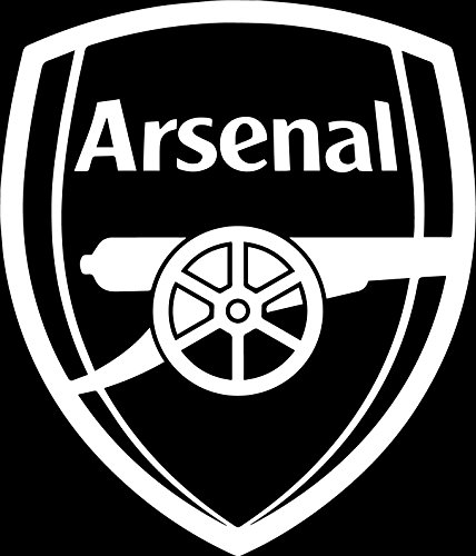 ANGDEST FC Arsenal (WHITE) (set of 2) - silhouette stencil artwork Waterproof Vinyl Decal Stickers Laptop Phone Helmet Car Window Bumper Mug Cup Door Wall Home (Art Silhouette Set)
