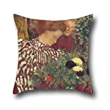Throw Pillow Covers 16 X 16 Inches / 40 By 40 Cm(each Side) Nice Choice For Lover,club,festival,saloon,dining Room,kitchen Oil Painting Edouard Vuillard - Woman In A Striped Dress
