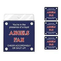 Tree-Free Greetings NC38090 Angels Baseball Fan 4-Pack Artful Coaster Set