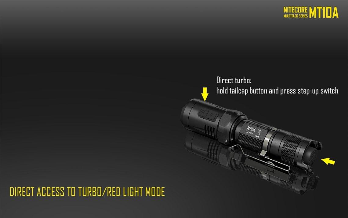 Nitecore mt10 a táctica linterna por IMR 14500 cargador de batería UM10 Eastshine pared adaptger recargable caja: Amazon.es: Deportes y aire libre