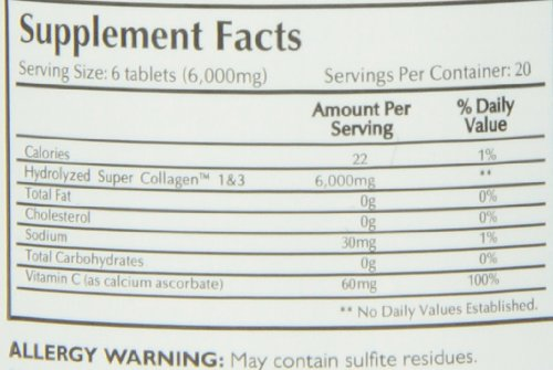 016185128958 - Neocell Super Collagen Type 1 and 3 plus Vitamin C Tablets, 120 Count carousel main 1