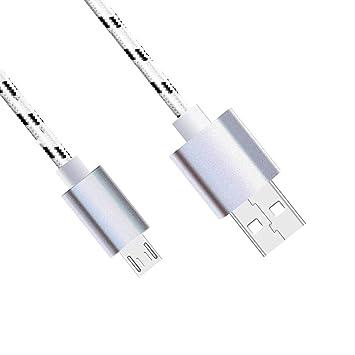 Lunasol Home 1M Cable Micro USB (Conector Largo) para Blackview BV6000 / BV6000S / BV6800 / BV5800 / BV4000 Móvil Resistente – Trenzado a Tejido Cable ...