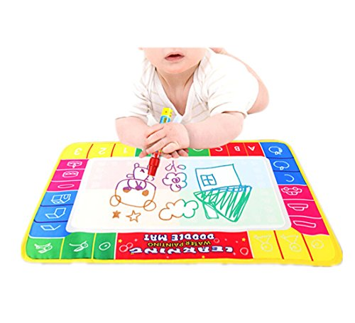 Leoy88 Four Color Magic Water Mat Board for Baby Toys Gift 29X19cm
