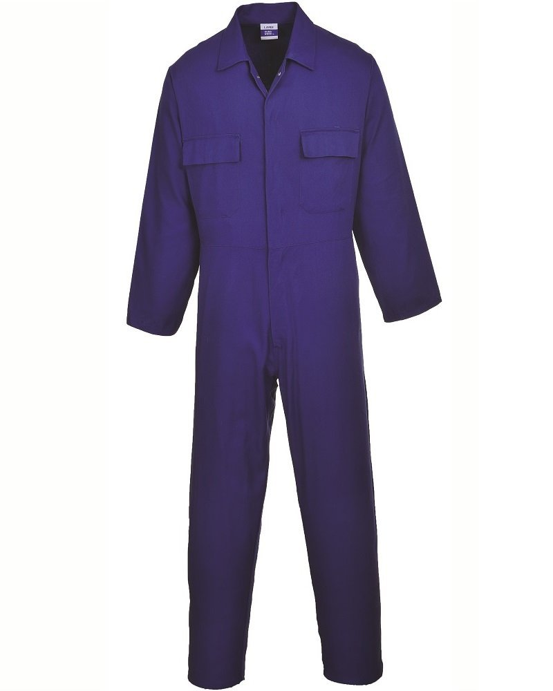 Portwest S998BKRXXXL Euro Work Cotton Coverall, Regular, Size: 3X-Large, Black Portwest Clothing Ltd