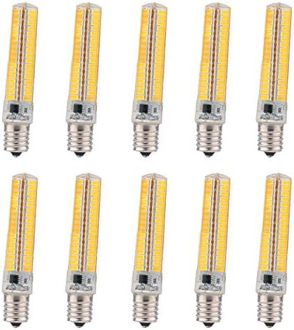 Bulbo del LED, lámpara ahorro de energía, 360 ° Ángulo de haz E17 bombilla LED adecuado for el hogar iluminación regulable de silicona Bombilla 5730 SMD 136LED lámpara ahorro de energía 7W (70W halóge