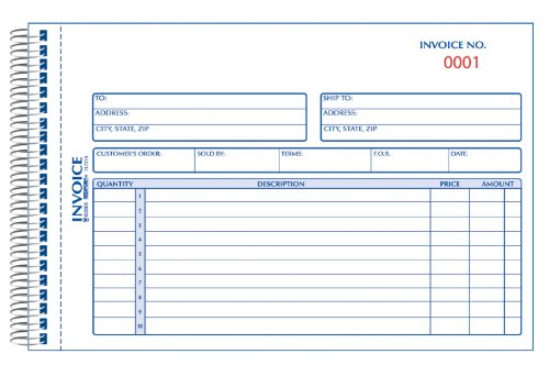 (REDIFORM Silver Standard Invoice Book, Wirebound, Numbered, 5.5 x 7.875 Inches, 50 Duplicates (7L721S))