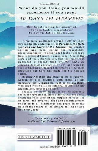 Amazon com: 40 Days in Heaven: The True Testimony of Seneca Sodi's