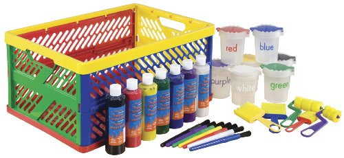 ECR4Kids 27-Piece Paint Set with Collapsible Crate