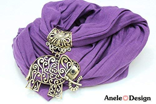 É charpe bijoux É lé phant - cadeau Noë l - violet bronze