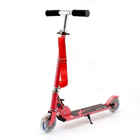 Honkid Patinete Aluminio con 2 Ruedas - Scooter Patinete Plegable 85cm Altura Ajustable para niños de