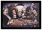 Big Chris Art Mafia Gangsters Playing Poker 24x36 Framed Poster (E3-1108)