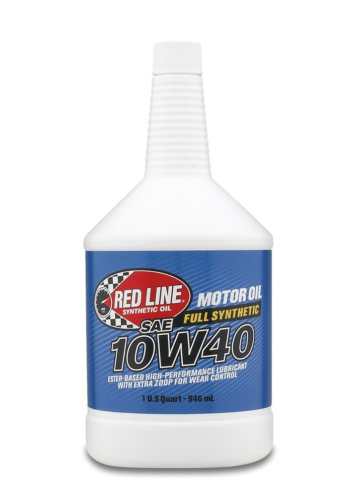 Línea roja 10 W40 aceite de motor - Quart (funda de 12 botellas): Amazon.es: Coche y moto