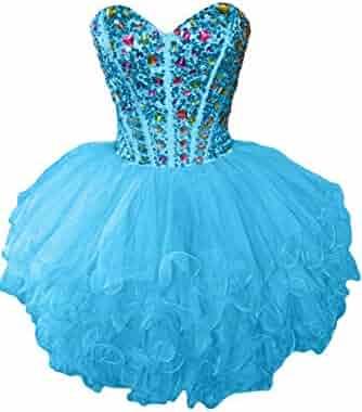 7033c2f0071 Sunvary Gorgeous Rhinestone Short Girls Homecoming Prom Dresses Club Gown