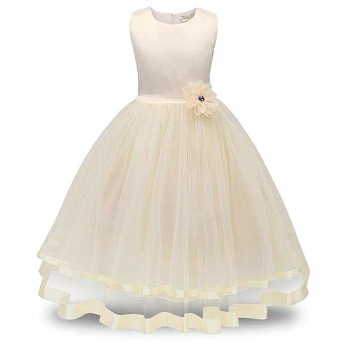 Amazon.com: Vestido para niñas, GoodLock Flower Girl ...