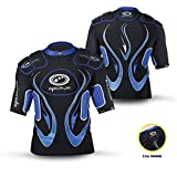 Optimum Unisex Junior Inferno Protective Top Shoulder Pads, Black/Blue, Large
