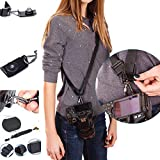 Photo Rapid Fire Camera Neck Strap w/Quick Release and Safety Tether ,Comfortable Durable Shoulder Sling Camera Strap,