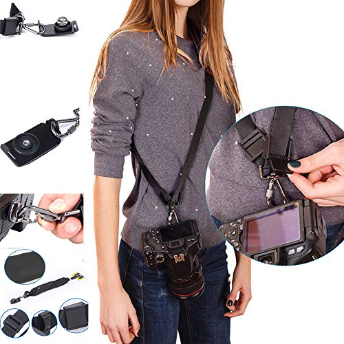 Photo Rapid Fire Camera Neck Strap w/Quick Release and Safety Tether ,Comfortable Durable Shoulder Sling Camera Strap, by SRXING