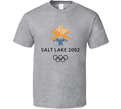 Salt Lake City 2002 Olympics - Salt Lake City 2002 Winter Olympics Logo T Shirt XL Sport Grey