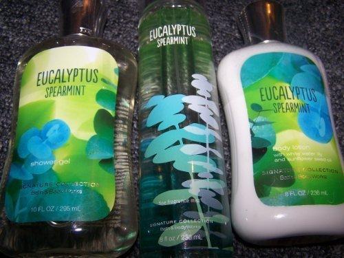 3 Piece Bath & Body Works Eucalyptus Spearmint Fine Fragranc