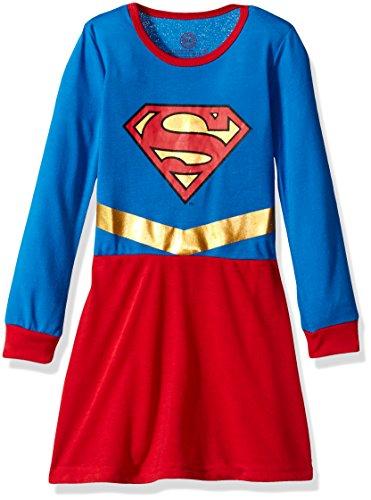 DC Comics Toddler 'Superman Supergirl Princess' Costume Pajama, Red, (Roller Derby Girl Costumes)