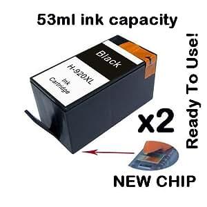 estoreimport compatible 2 pack hp 920xl black ink cartridge set for officejet 6000. Black Bedroom Furniture Sets. Home Design Ideas