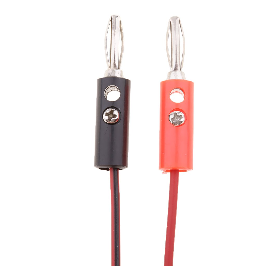 5 Pairs Insulated Alligator Clip to Banana Plug Multimeter Testing Wire 1m//3.3ft