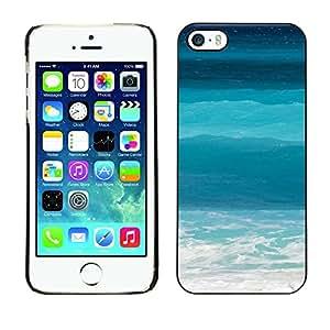 [Neutron-Star] Snap-on Series Teléfono Carcasa Funda Case Caso para iPhone 5 / 5S [Las olas del mar del océano Tropical Summer SURF]