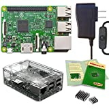 Viaboot Raspberry Pi 3 Power Kit — UL Listed 2.5A Power Supply, Premium Clear Case Edition