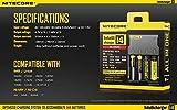 IT Mall Nitecore Intelli i4 Li-ion/Ni-MH/Ni-Cd Battery Charger for 26650 22650 18650 17670 18490 17500 18350 16340 RCR123 14500 10440 Ni-MH and Ni-Cd AA AAA AAAA C Rechargeable Batteries