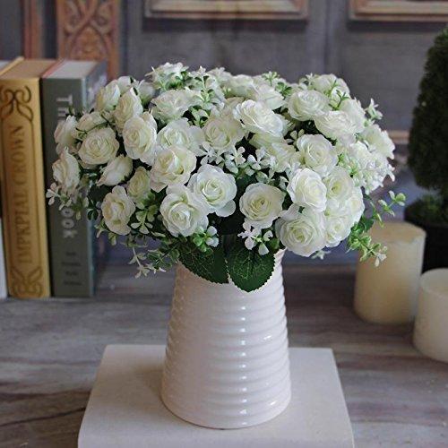 Artificial Lifelike Single Stem Rose Flower Wedding Party Craft Decor (Blue) - 7