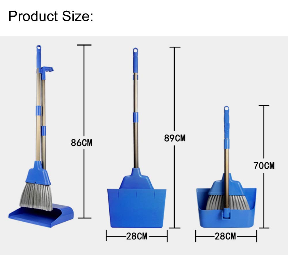 Xifando Aluminum Alloy Folding Extension-type Windproof Broom /& Dustpan Set