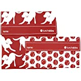 Lunchskins Reusable 2-Pack Velcro Bag Set, Canine Red (1 Sandwich + 1 Snack)