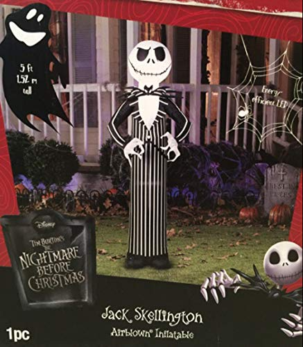 Halloween Inflatable Jack Skellington Nightmare before Xmas 5' Tall