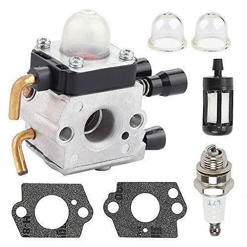Milttor C1Q-S186 Carburetor Fit STIHL FS38 Carburetor FS55 FS55C FS55R FS55RC FS55T FS45 FS45C FS45L FS46 FS46C Trimmer HL45 KM55 Hedge Engine C1Q-S97 4140 120 0619