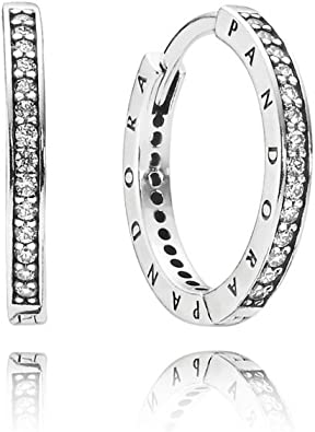 Oferta amazon: Pandora Pendientes de botón Mujer plata - 290558CZ