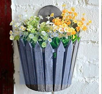 Lieblich American Rustikal/Vintage Holz//Blume Hängekorb/Shop Creative Home/ Wohnzimmer Wand