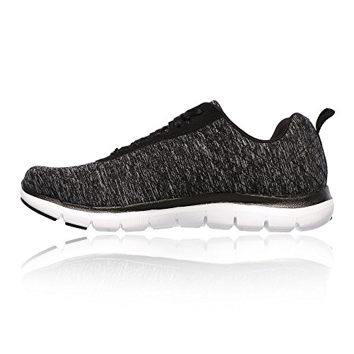 Skechers Flex Appeal 2.0 Women's Running Shoes - SS18 Black/White PEA437R3vZ