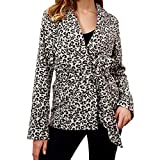 Pengy--Jackets Clearance Sale! PENGYGY Women V-Neck Blouse with Long-Sleeved Leopard Print Sexy Coat
