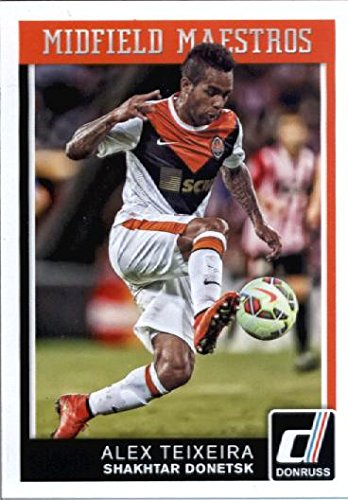 fan products of 2015 Donruss Midfield Maestros #2 Alex Teixeira Shakhtar Donetsk Soccer Card in Protective Screwdown Display Case
