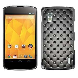 TECHCASE**Cubierta de la caja de protección la piel dura para el ** LG Google Nexus 4 E960 ** Design Interior Wallpaper Grey Random