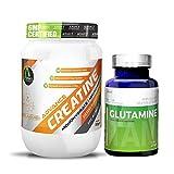 Advance Nutratech Creatine Monohydrate unflavoured 300 g & Glutamine supplement powder 100 gm unflavoured