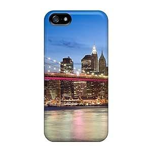 New Arrival Beautifully Colored Brooklyn Bridge BzUOfDP3351dJwtu Case Cover/ 5/5s Iphone Case