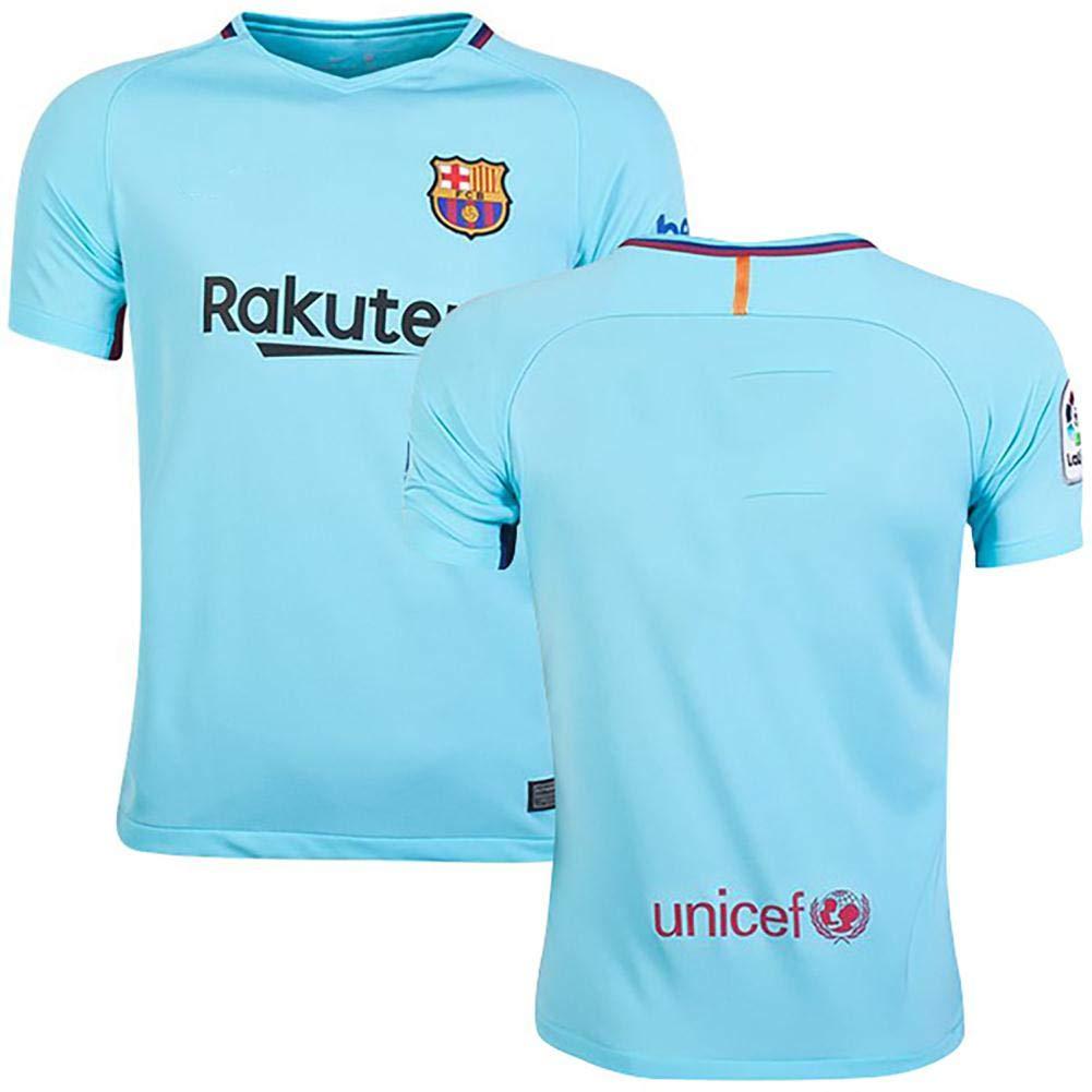 Go-Fall 2019 Soccer Jersey Mens T-Shirts Spain 1718 Barcelona Short Blue Replica